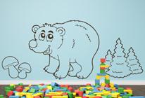 Samolepky na zeď - Medvěd v lese