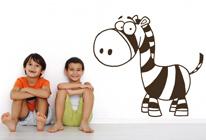 Samolepky na zeď - Malá zebra