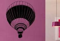 Samolepky na zeď - Horkovzdušný balón 3D