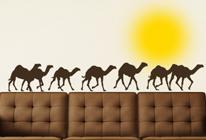 Samolepky na zeď - Karavana velbloudů