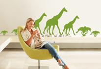 Samolepky na zeď - Žirafy táhnou savanou