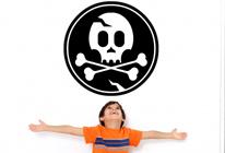 Samolepky na zeď - Pirátská vlajka