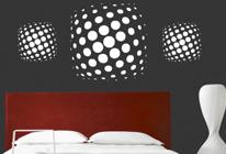 Samolepky na zeď - Abstraktní puntíky