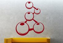 Samolepky na zeď - Propojené molekuly
