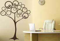 Samolepky na zeď - Ptačí hnízda na stromě