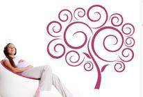 Samolepky na zeď - Strom z cukrové vaty