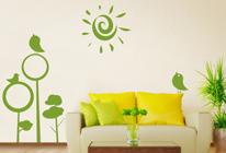 Samolepky na zeď - Jarní slunečný den