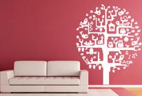 Samolepky na zeď - Obydlený strom