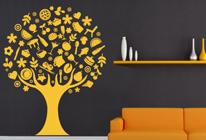 Samolepky na zeď - Strom s jídlem