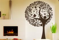 Samolepky na zeď - Ptáček na stromě