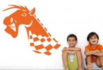 Samolepky na zeď - Závodní kůň