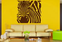 Samolepky na zeď - Zebra 02