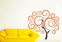 Samolepky na zeď - Strom z cukrové vaty - BARVA