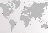 Samolepky na zeď - Mapa pro cestovatele - BARVA