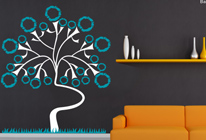 Samolepky na zeď - Strom života - BARVA