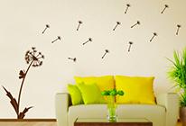 Samolepky na zeď - Pampeliška ve větru
