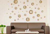 Samolepky na zeď - Abstraktní kruhy