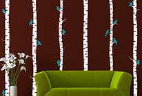 Samolepky na zeď - Vysoký strom 01 - BARVA