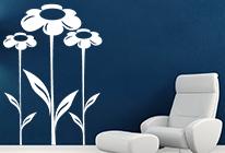 Samolepky na zeď - Květinový vzor 04