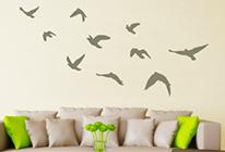 Samolepky na zeď - Hejno ptáků