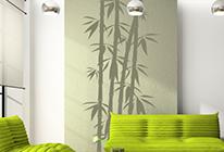 Samolepky na zeď - Bambusový dekor 01