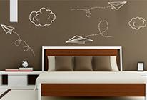 Samolepky na zeď - Papírové vlaštovky