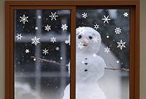 Samolepky na zeď - Sněhové vločky na okno