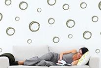 Samolepky na zeď - Designové bublinky
