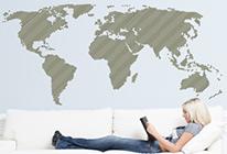 Samolepky na zeď - Moderní mapa světa