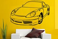 Samolepky na zeď - Porsche