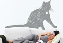 Samolepky na zeď - Kočka 01