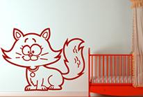 Samolepky na zeď - Kočka 02