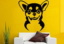 Samolepky na zeď - Pes čivava