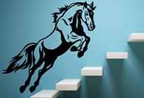 Samolepky na zeď - Skákající kůň